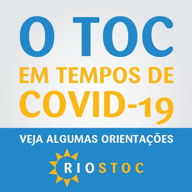Toc e Covid-19 Orientações RIOSTOC